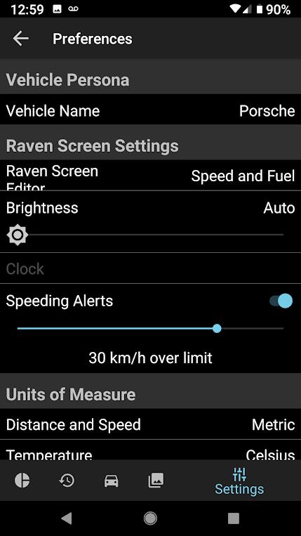 mobile app speeding threshold